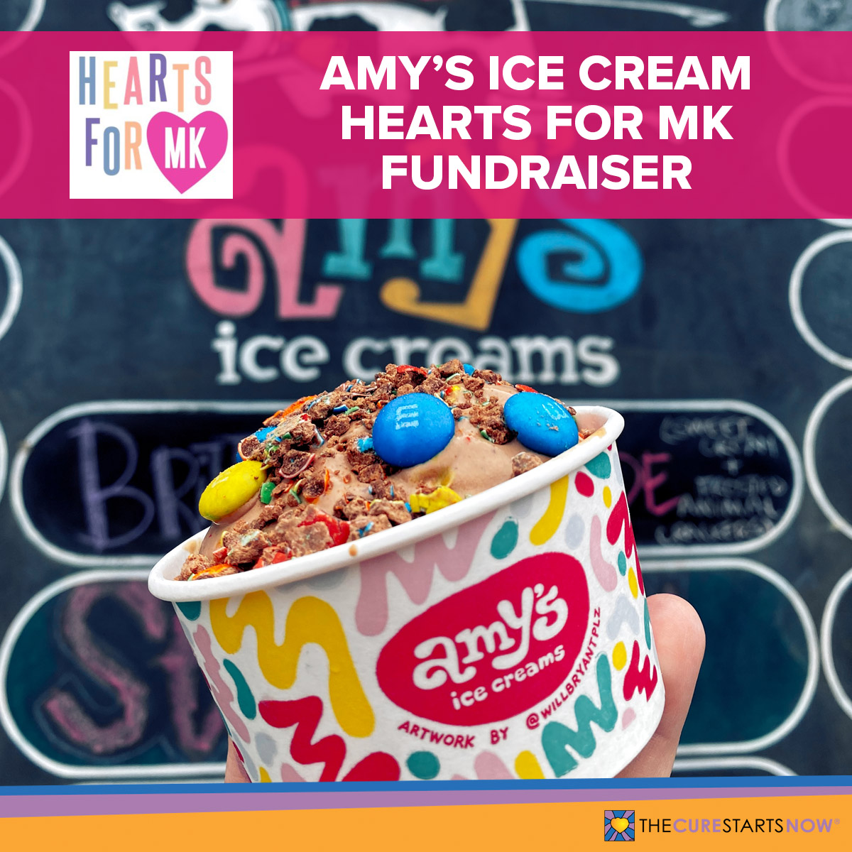 Amy's Ice Cream Hearts for MK Fundraiser
